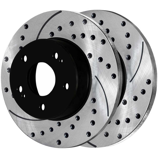 Front and Rear Performance Brake Rotor Bundle - Part # PR41247PR4298