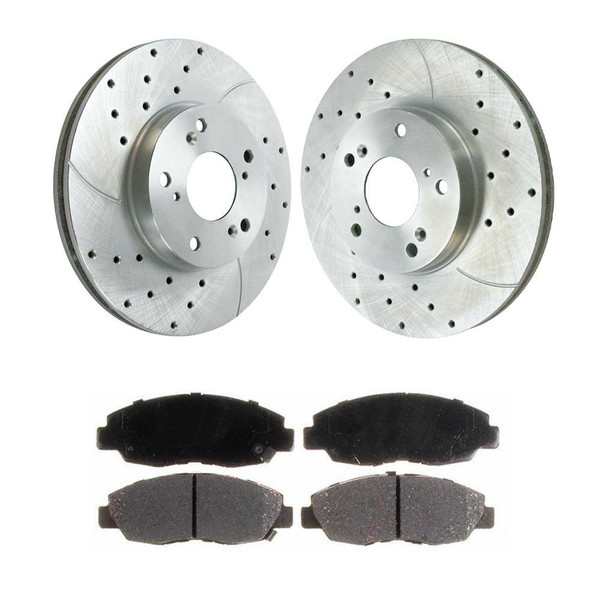 Front Performance Silver Rotors and Performance Ceramic Pads Set - Part # PR41259DSZPR-PCD465A