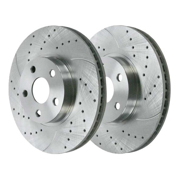 Front Performance Brake Rotor Pair Silver - Part # PR41272DSZPR