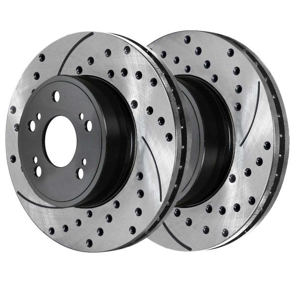 Front and Rear Performance Brake Rotor Bundle - Part # PR41277PR41320