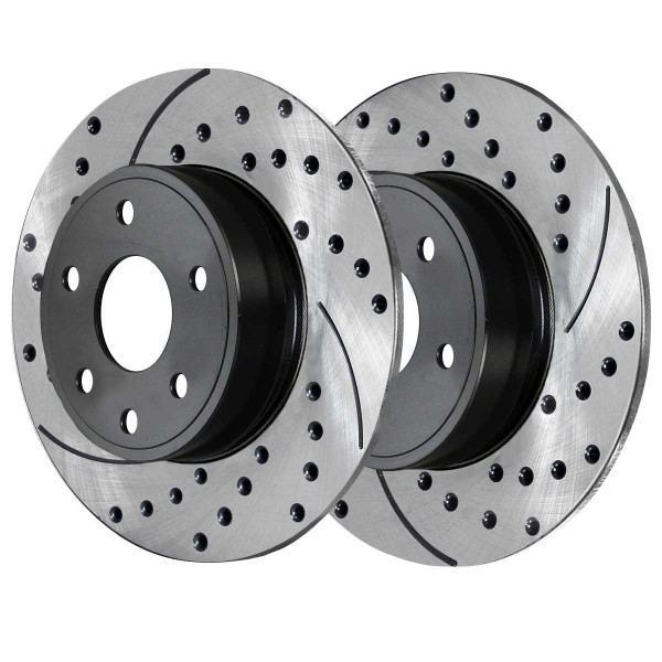 Front and Rear Performance Brake Rotor Bundle - Part # PR41308PR41314