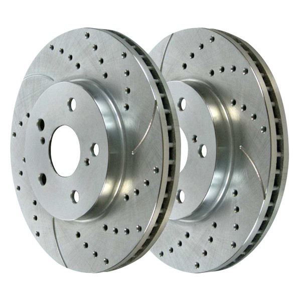 Front Performance Brake Rotor Pair Silver - Part # PR41316DSZPR