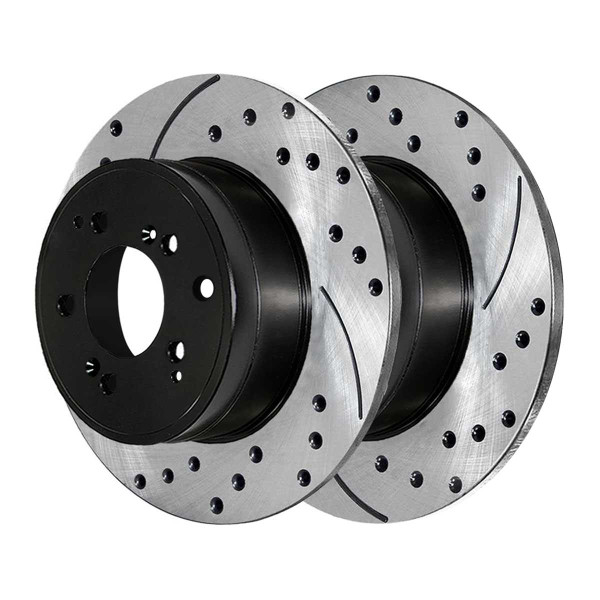 Rear Performance Drilled and Slotted Brake Rotor Pair - Part # PR41320LR