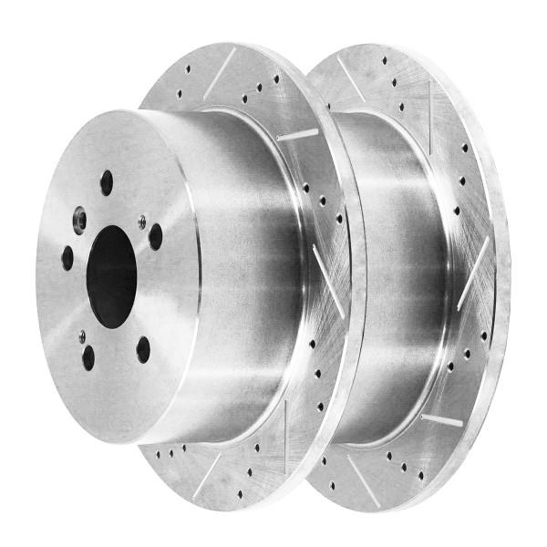 Rear Performance Brake Rotor Pair Silver - Part # PR41324DSZPR