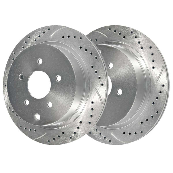 Rear Performance Brake Rotor Pair Silver - Part # PR41350DSZPR