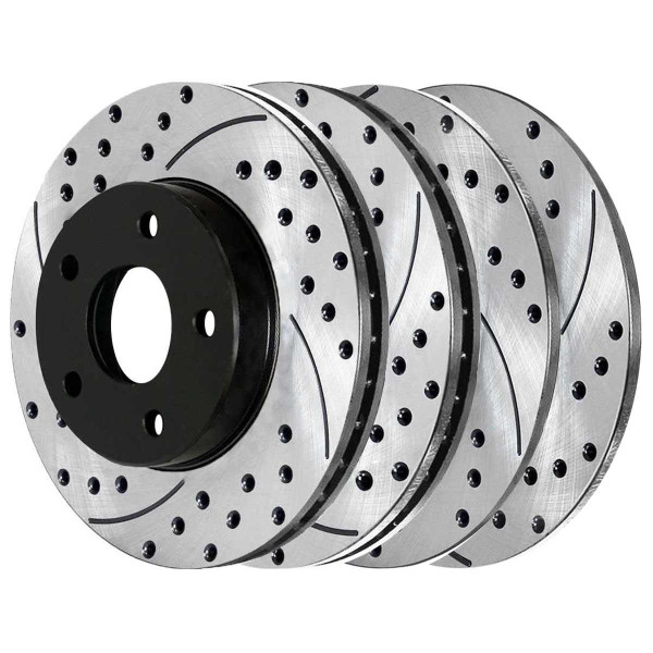 Front and Rear Performance Brake Rotor Bundle - Part # PR41368-41365PR