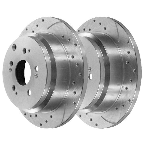 Rear Performance Brake Rotor Pair Silver - Part # PR41371DSZPR