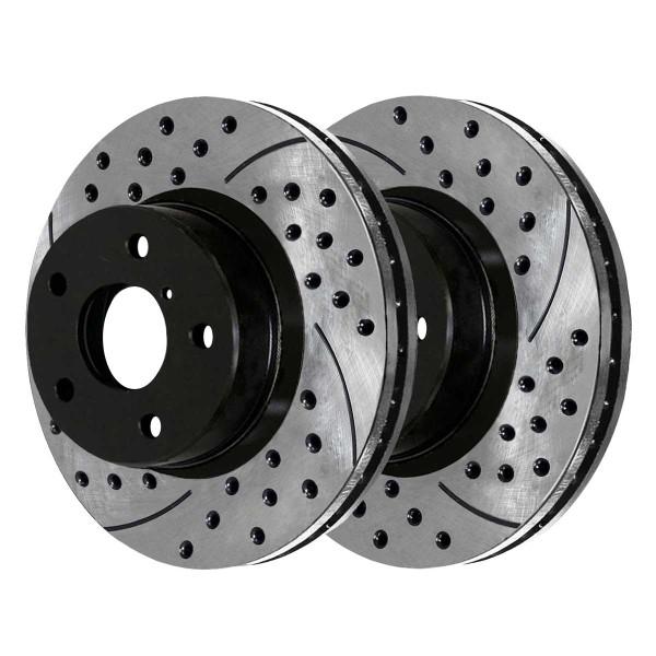 Front and Rear Performance Brake Rotor Bundle - Part # PR41377PR41389