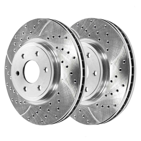 Front Performance Brake Rotor Pair Silver 11.65 Inch Diameter - Part # PR41414DSZPR