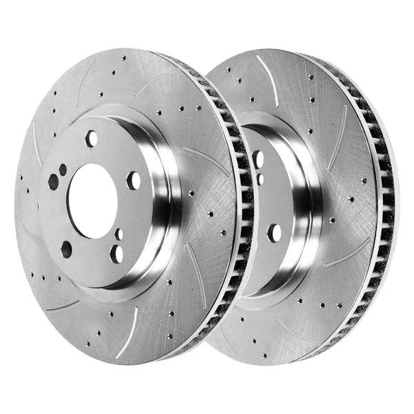 Front Performance Brake Rotor Pair Silver - Part # PR41442DSZPR