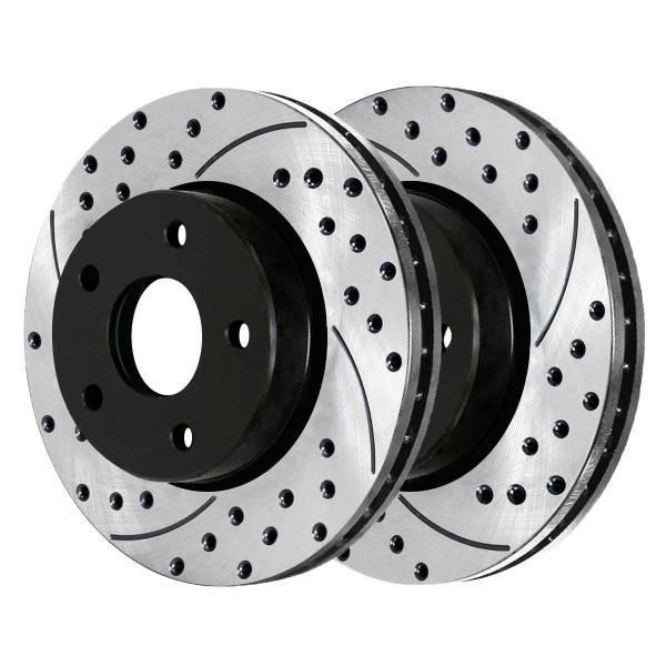 Front and Rear Performance Brake Rotor Bundle - Part # PR41466-41314PR