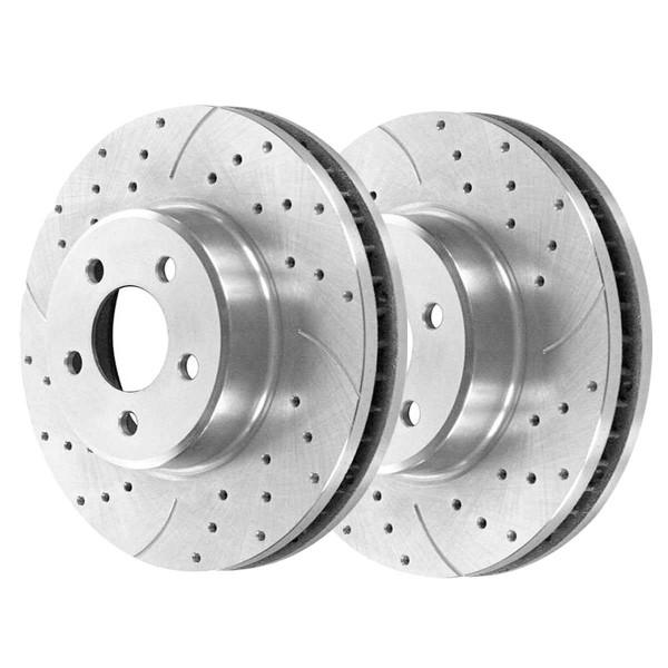 Front Performance Brake Rotor Pair Silver - Part # PR41466DSZPR