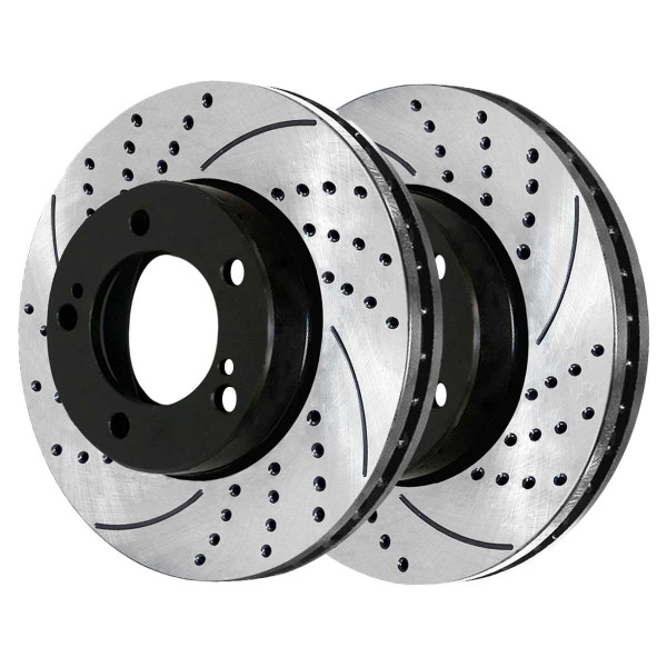 Front Performance Drilled and Slotted Brake Rotor Pair - Part # PR41484LR