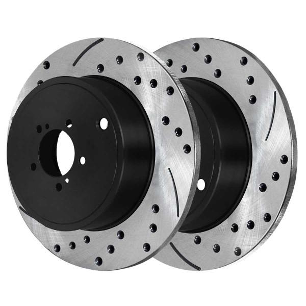 Rear Performance Brake Rotor Pair 277mm Diameter Solid - Part # PR41511LR