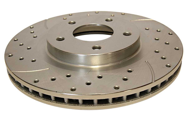 Front Pair of Performance Silver Drilled Slotted Rotors - Part # PR41514DSZPR