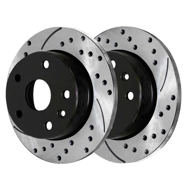 Front and Rear Performance Brake Rotor Bundle - Part # PR41514PR41314