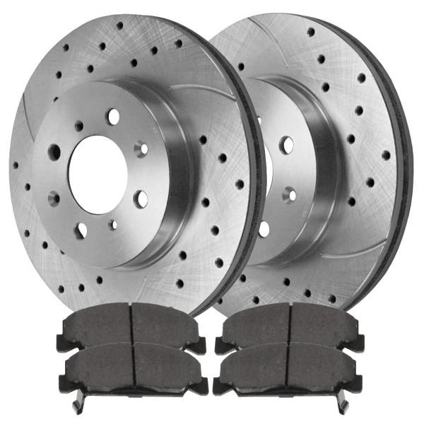 Front Performance Silver Rotors and Ceramic Pads Set - Part # PR4297DSZPR-SCD273