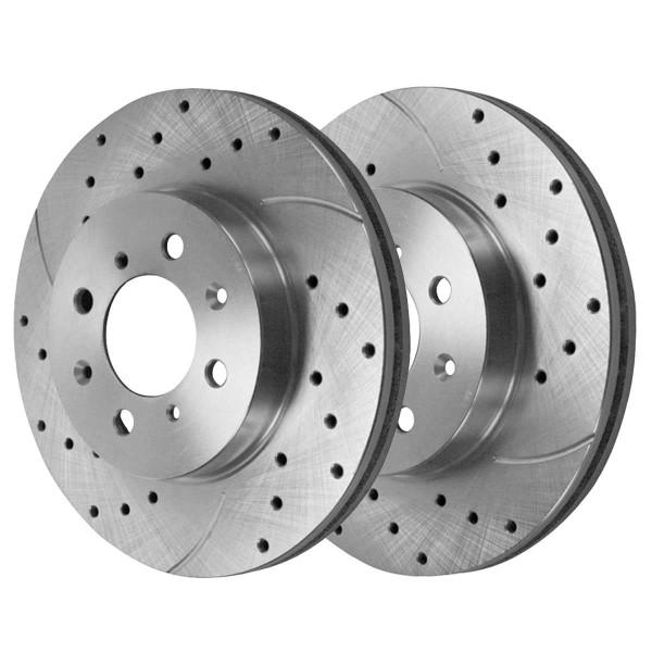 Front Performance Brake Rotor Pair Silver - Part # PR4297DSZPR