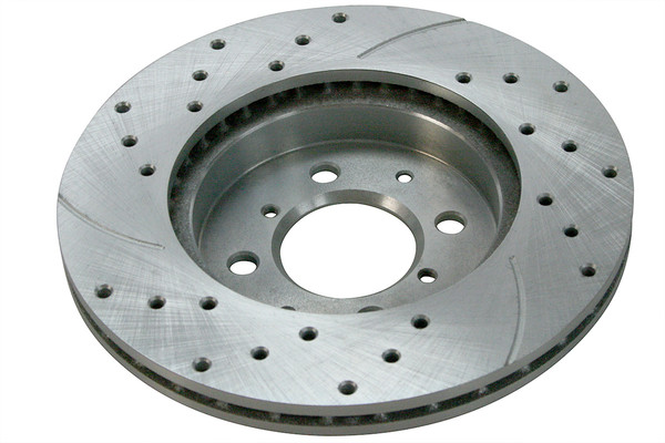 Front Pair of Performance Silver Drilled Slotted Rotors - Part # PR4297DSZPR