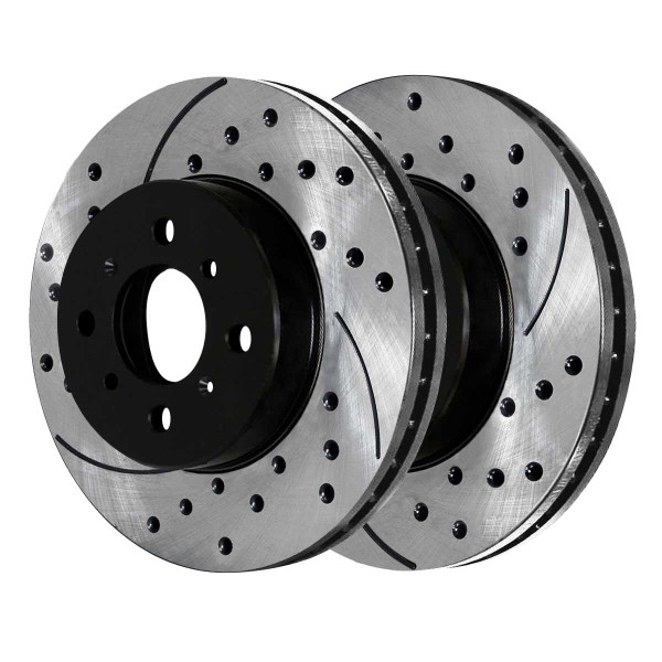 Front Performance Drilled and Slotted Brake Rotor Pair - Part # PR4297LR