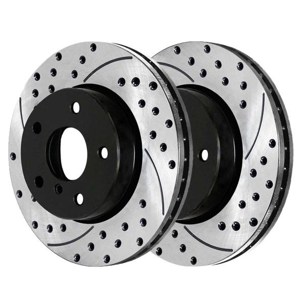 Front and Rear Performance Brake Rotor Bundle - Part # PR44175PR44222