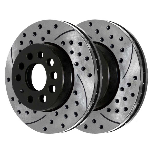 Front Performance Drilled and Slotted Brake Rotor Pair 312mm Rotor Diameter - Part # PR44281LR