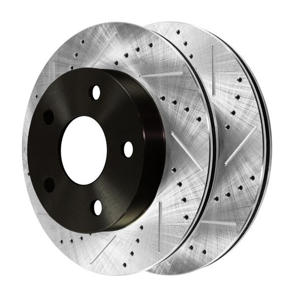 [Front Set] 2 Drilled & Slotted Performance Brake Rotors - Part # PR63003LR