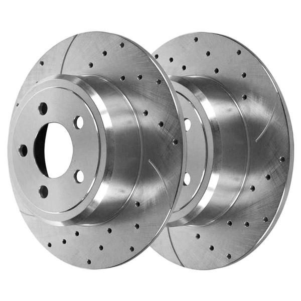Rear Performance Brake Rotor Pair Silver 12.60 Inch Diameter Solid - Part # PR63023DSZPR