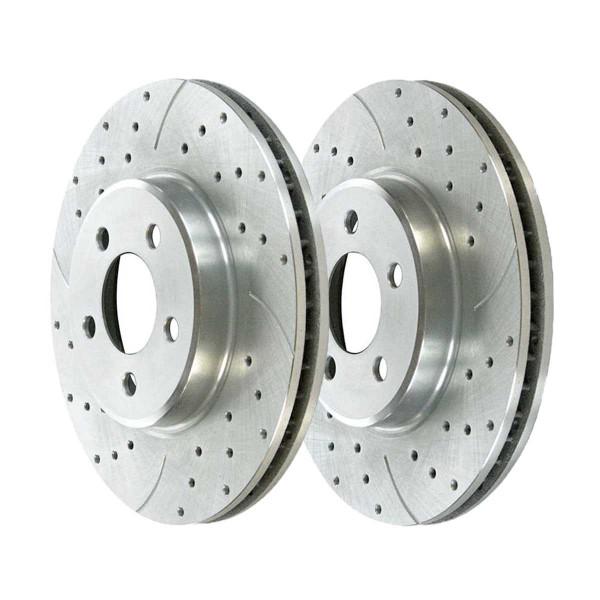 Front Performance Brake Rotor Pair Silver 12.60 Inch Diameter - Part # PR63024DSZPR