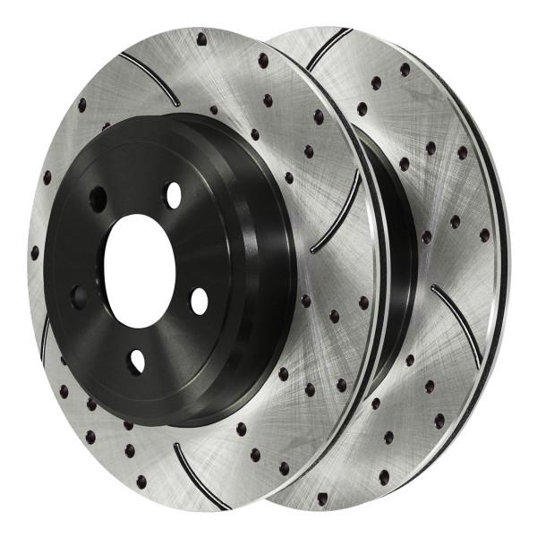 Rear Performance Brake Rotor Pair 12.60 Inch Diameter Vented - Part # PR63026LR