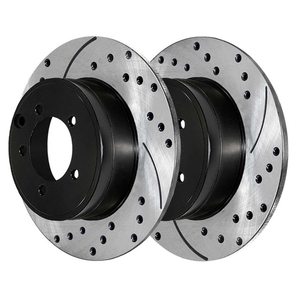 Front and Rear Performance Brake Rotor Bundle 11.89 Inch Rear Diameter - Part # PR63040PR63045