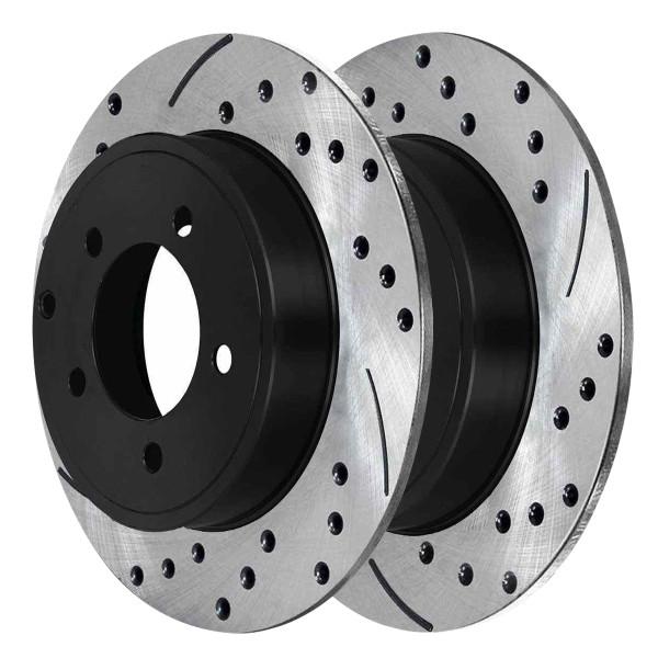 Rear Performance Brake Rotor Pair 11.89 Inch Diameter - Part # PR63045LR