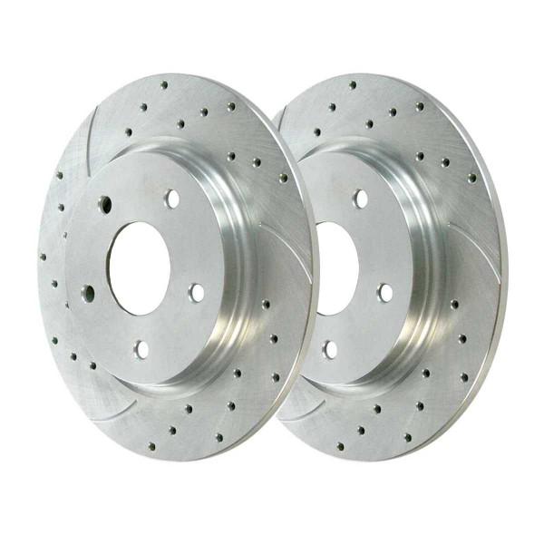 Rear Performance Brake Rotor Pair Silver 12 Inch Diameter - Part # PR63052DSZPR
