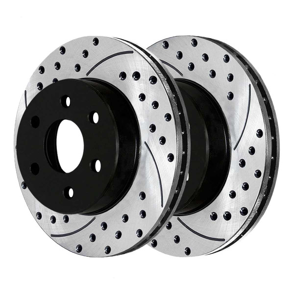 Front Performance Drilled and Slotted Brake Rotor Pair - Part # PR64101LR
