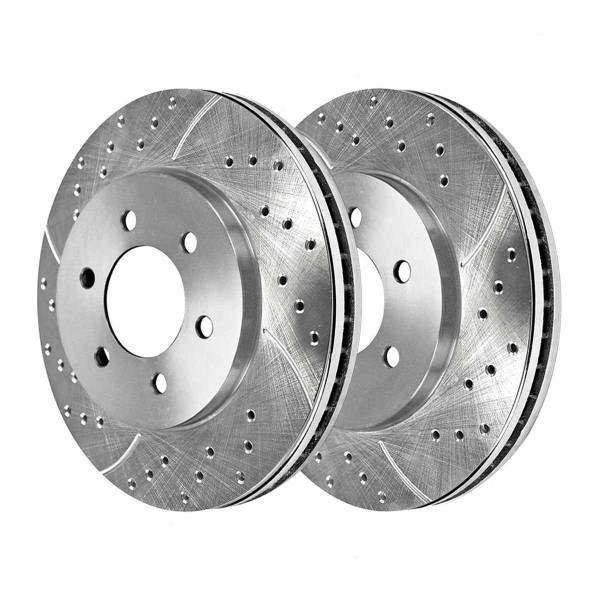 Front Performance Brake Rotor Pair Silver 6 Stud - Part # PR64111DSZPR