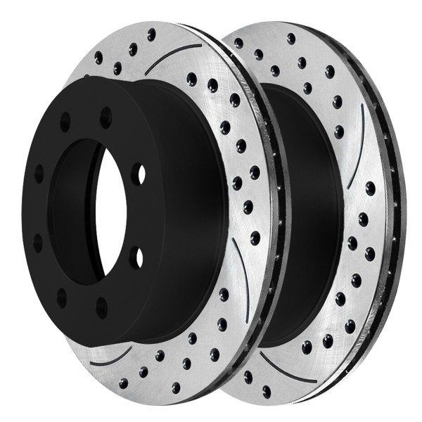 Front Performance Drilled and Slotted Brake Rotor Pair 4WD - Part # PR64126LR