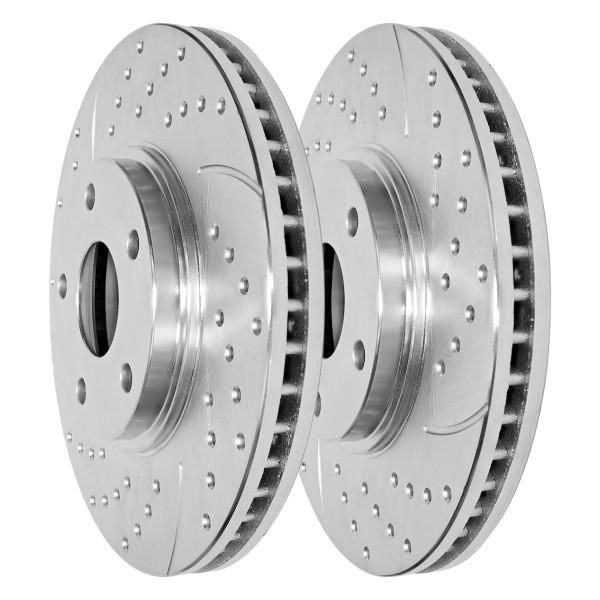 Front Performance Brake Rotor Pair Silver - Part # PR64136DSZPR