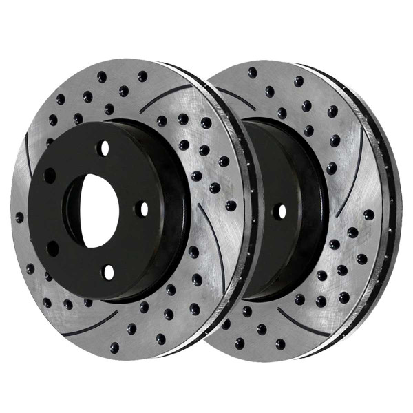 Front and Rear Performance Brake Rotor Bundle - Part # PR64136PR64133