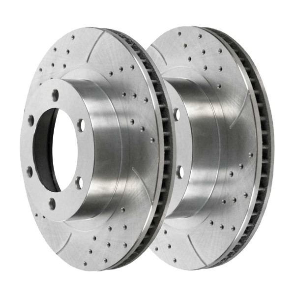 Front Performance Brake Rotor Pair Silver - Part # PR65056DSZPR
