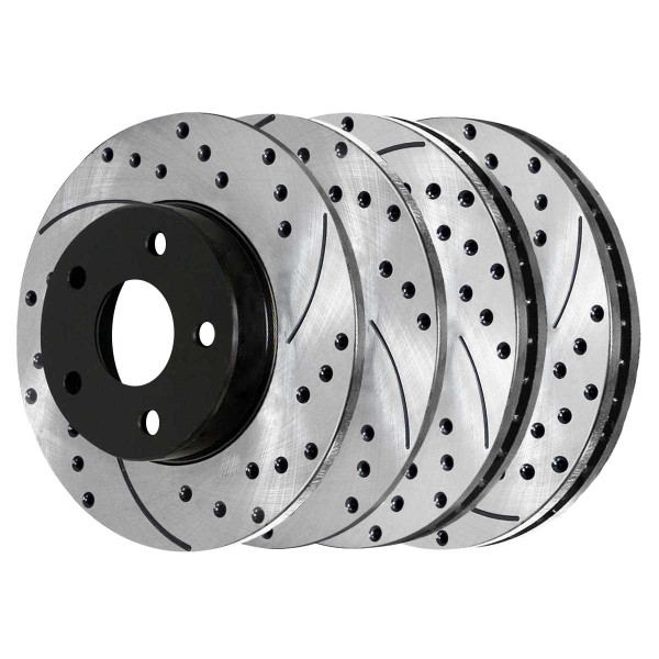 Front and Rear Performance Brake Rotor Bundle - Part # PR65089PR65087