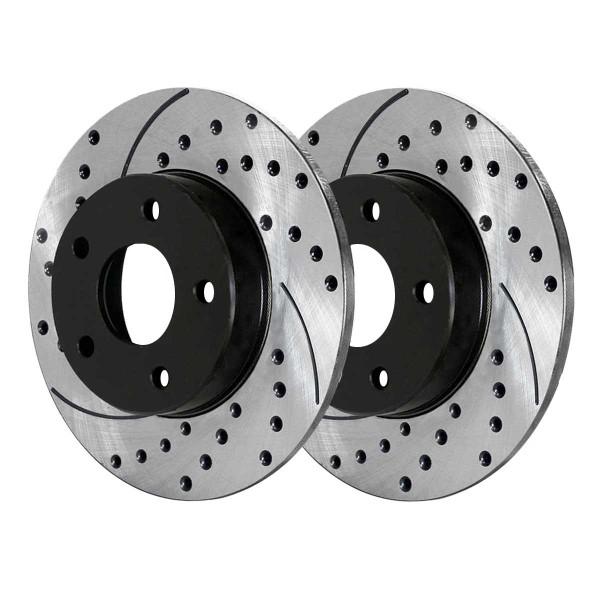 Front and Rear Performance Brake Rotor Bundle 11.65 Inch Front Diameter - Part # PR65095PR65096