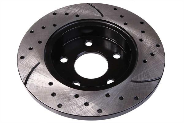 [Rear Set] 2 Drilled & Slotted Performance Brake Rotors - Part # PR65096LR