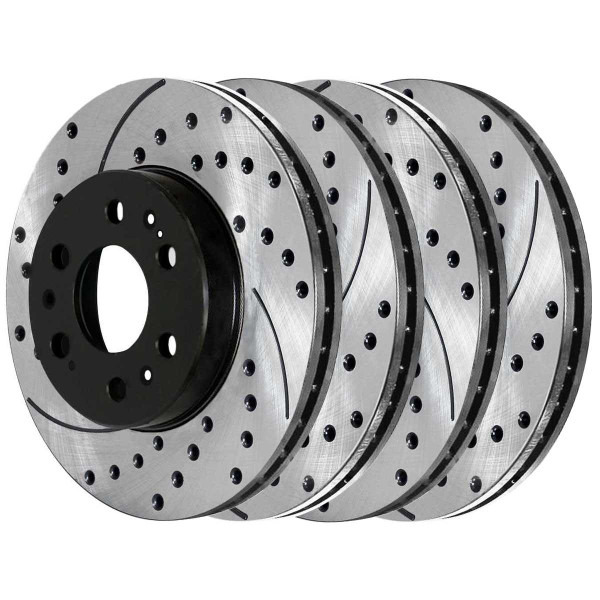 Front and Rear Performance Brake Rotor Bundle - Part # PR65099PR65135