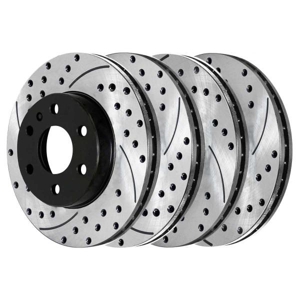 Front and Rear Performance Brake Rotor Bundle - Part # PR65152PR65153