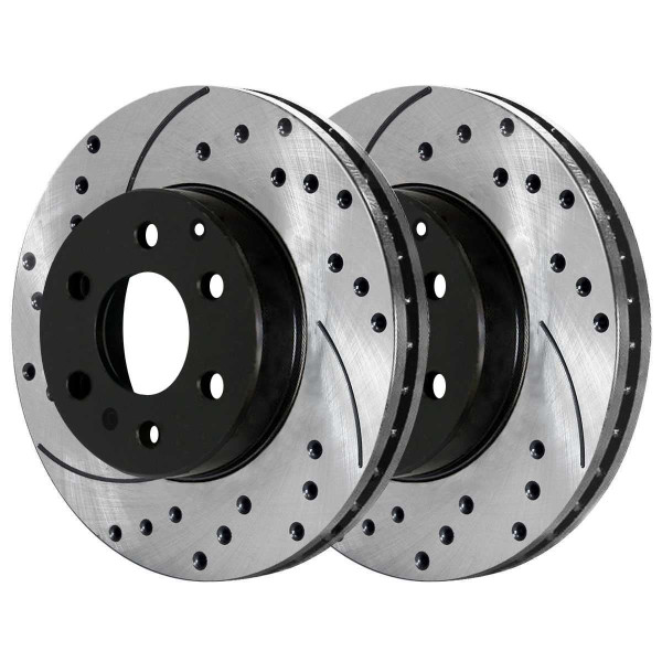 Front and Rear Performance Brake Rotor Bundle - Part # PR65152PR65153