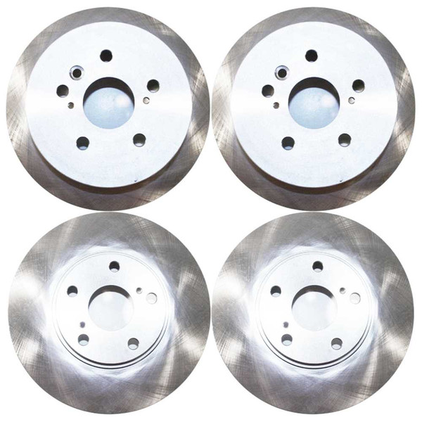 [Front & Rear Set] 4 Brake Rotors - Part # R41268R41358