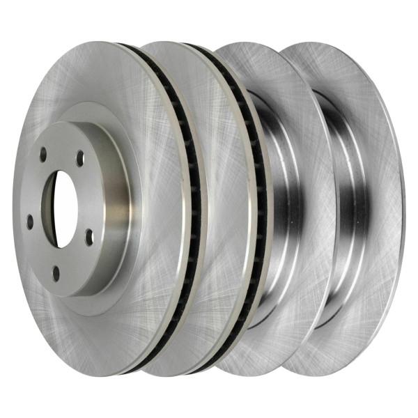 [Front & Rear Set] 4 Brake Rotors - Part # R41332R41314