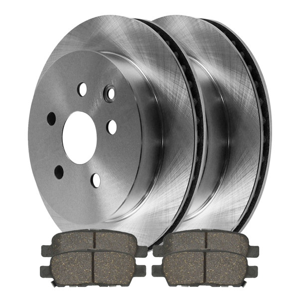 Rear Set of Brake Rotors and Ceramic Pads - Part # R41351-PCD905