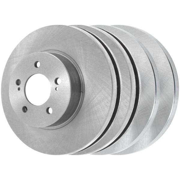 [Front & Rear Set] 4 Brake Rotors - Part # R41436R41445