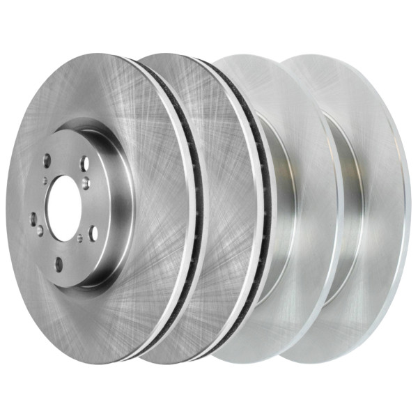 [Front & Rear Set] 4 Brake Rotors - Part # R41470R41471